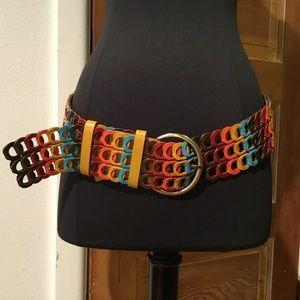 Accessories - Vintage multi color leather belt